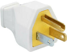 Heavy-Duty Construction Plug, Rubber, Residential, 15-Amp, 125-Volt, White