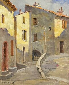 1930's FRENCH IMPRESSIONIST SIGNED OIL - RAMATUELLE ST. TROPEZ - BEAUTIFUL LIGHT