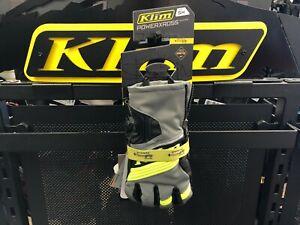 Mens Klim Powerxross Gloves SM Dark Gray Hi Vis 3438-005-120-660