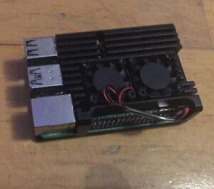 Raspberry Pi 4 Modell B, 4GB, 4 x 1,5GHz, BT, WLAN-ac, Alu Kühlkörper, wie Neu!