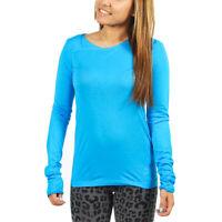 Women's PUMA Long Sleeve Shutter Tee T-Shirt Blue Aster size XS $65