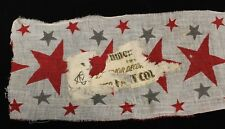 "Civil War Patriotic Banner 6' x 6"" with Original Sticker"