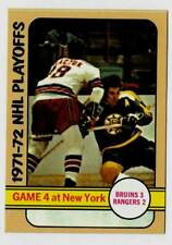 1972-73 Topps NHL Playoffs GAME 4 at New York (ex)