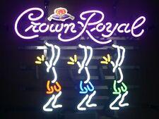 "New Crown Royal Dancers Neon Light Sign 17""x14"" Beer Gift Lamp Bar Artwork Decor"