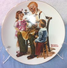 Norman Rockwell Collectible Plates The Toymaker 6.5 inch
