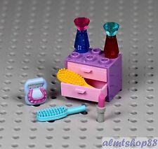 LEGO - 7 pcs Lipstick Hair Brush Handbag Perfume Girl Minifigure Utensil Friends
