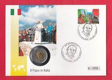 El papa juan pablo ii. * numisbrief vaticano * visita papa en Italia