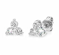 Three Stone Earrings Embellished with Crystals from Swarovski® in Gift Pouch