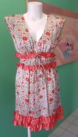 Rodeo Show | Women's Vintage Sheath Dress | Size 10 | Floral Print Ruffled