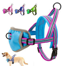 Front Leading Pet Dog Vest Harness w/ Handle Soft Padded Reflective Small Large