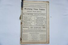 More details for 1940 lner railway working timetable london & north eastern no 4 lincoln district