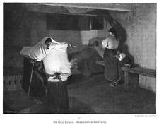 Enfermos-encantamiento, bruja, original de madera picadura de aprox. 1890