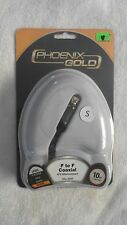 Phoenix Gold F to F Coaxial A/V Interconnect 10' Cable Level Bronze VRx.330F