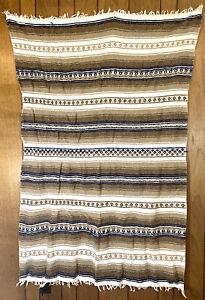 "Vintage Aztec Blanket Rug Tapestry 72""x40"" Large Handmade Tapestry Woven"