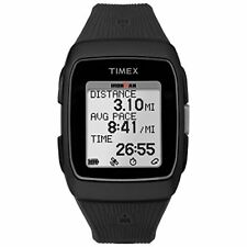 Timex Unisex TW5M11700 Ironman GPS Black Silicone Strap Watch