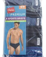 Hanes Men's Premium Comfort Soft waist band Sport Briefs  assorted colors 6 Pack