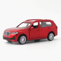 BMW X7 SUV 2019 1:44 Die Cast Modellauto Spielzeug Model Sammlung Pull Back Rot