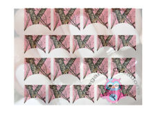 Pink Camo Nail French Tip Decals
