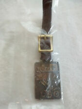 Watch Fob Leather Hanger New In Package Vintge Gm Terex Loader Hudson Oh Pocket