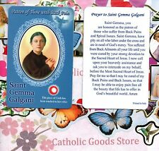 Saint Gemma Galgani with Prayer  - Relic Paperstock Holy Card
