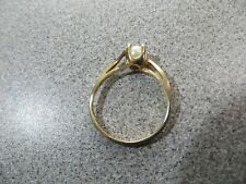 10K Gold Ring with Pearl - Size 6.5