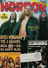 Magazin Horror 10/1993,Paradise Lost,Fates Warning,Type 0 Negative,Risk,Mr.Big,.
