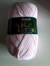 1 400g Ball WOOLCRAFT Baby Pink Aran Knitting Wool