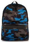 Michael Kors Men's Kent Large Backpack Midnight Camouflage Black Blue Multi