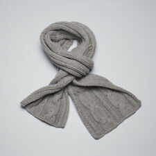 Loro Piana Scarf Gray Cable Knit Baby Cashmere