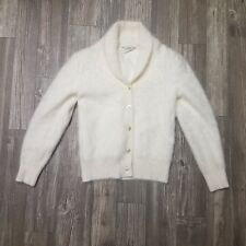 Woman's White rabbit & angora sweater made by Belldini (SIZE SMALL)
