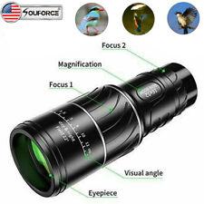 Dual Focus Zoom Monocular 16x52 Telescope Optics Bak4 Prism Night Vision Camping