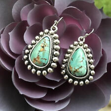 Earrings Jewelry Tourmaline A Pair/set Fashion Women 925 Silver Boho Drop
