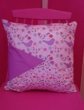 ** EXCLUSIVE NEW HANDMADE ** Lilac 'CAMBRIDGE PATCHWORK' Cushion & Infill