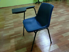 Tuition / Seminar Study Chair, Blue Fabric and Black Color, Condition 8/10.