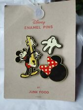 Disney Enamel Pins by Junk Food Mickey Mouse Set of 3