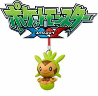 Pokemon X&Y Swing Mascot Anime Figure Keychain Phone Charm ~ SD Chespin @83689