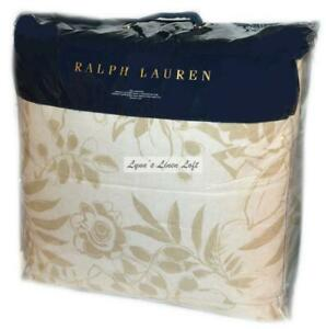RALPH LAUREN King Comforter CECILY PALMETTO TAN $470 BOTANICAL