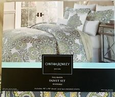 CYNTHIA ROWLEY Jacqueline Large Paisley Moroccan Medallion Duvet 3pc Set~NEW