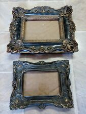 Pair of 2 Maison Antique Vintage Style Heavy Resin Photo Frames