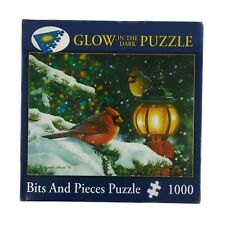 Glow In The Dark Bits Pieces Puzzle 1000 Yuletide Greetings Complete Cardinal