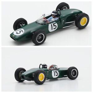1/43 Spark Lotus 21 N°15 3ème GP Pays-Bas 1961 Jim Clark Livraison Domicile