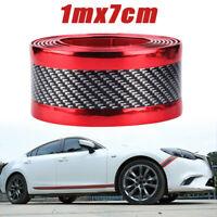 7CM 1M Car Sticker Carbon Fiber Rubber DIY Door Sill Protector Edge Guard Strip