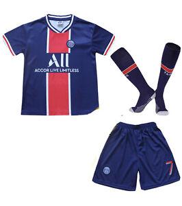 Paris Away MBAPPE Football Futbol Soccer Kids Jersey Shorts Socks Set 6-7 years
