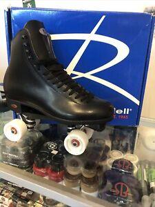 Riedell 120 Roller Skates / Size 11/ rock plate / medallion plus wheels / fomac