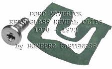 1970 - 1972 FORD MAVERICK REAR GLASS REVEAL MLDG CLIPS 20