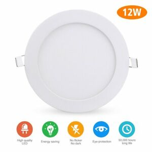 6 Pack 6 Inch LED Ceiling Lights Ultra-Thin Recessed Retrofit Kit 6000K Daylight