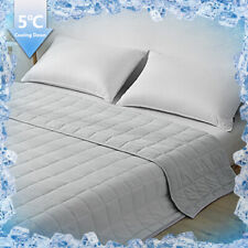 Soft Cotton Cooling Lightweight Blanket Double Sided All Season Full Queen King