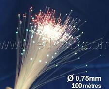 PROMO Rouleau de 100 mètres fibre optique ciel étoilé 0,75mm