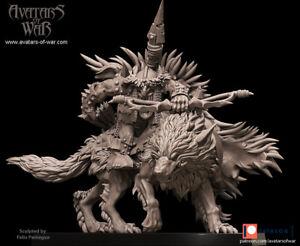 Avatars Of War 3D Printed miniature Gobelin sur loup 3