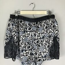 Sophie Theallet for Cacique Size 26/28 Floral Print Satin Lace Sleep Tap Shorts